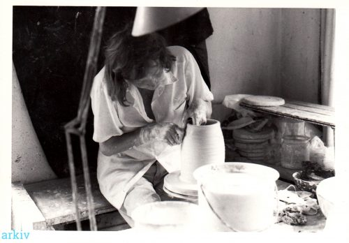 Trude Barner Jespersen, in her Studio, Photographer unknown via Arkiv.dk