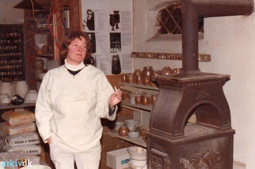 Trude Barner Jespersen, in her Studio
