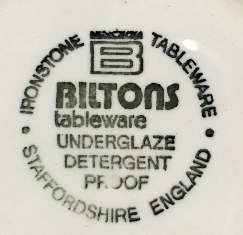 Biltons Backstamp c1970s