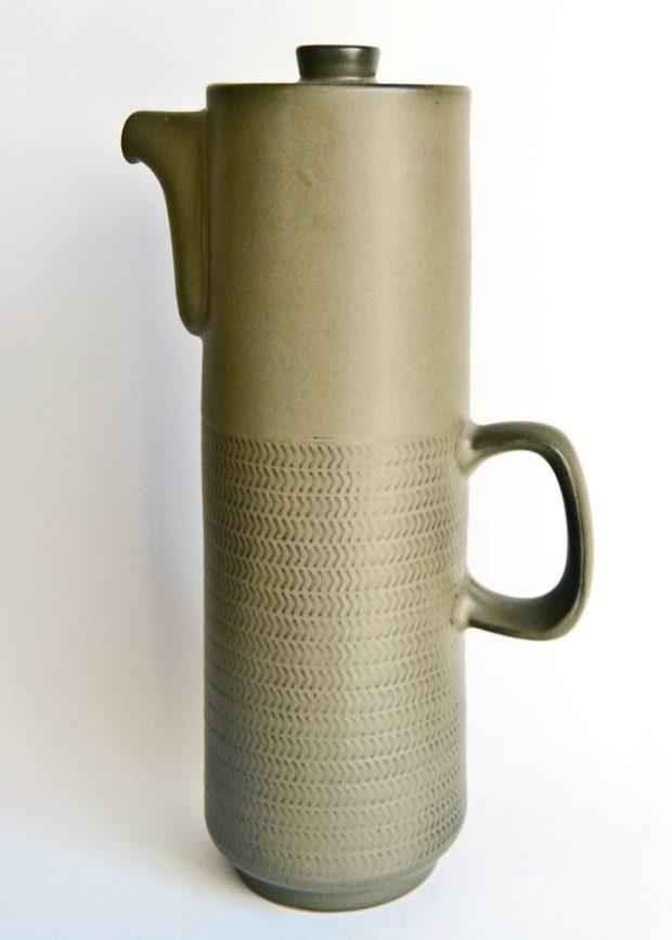 Denby Chevron Coffee Pot, Gill Pemberton 1962