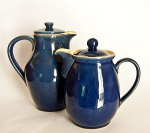 Denby Cottage Blue Teapots