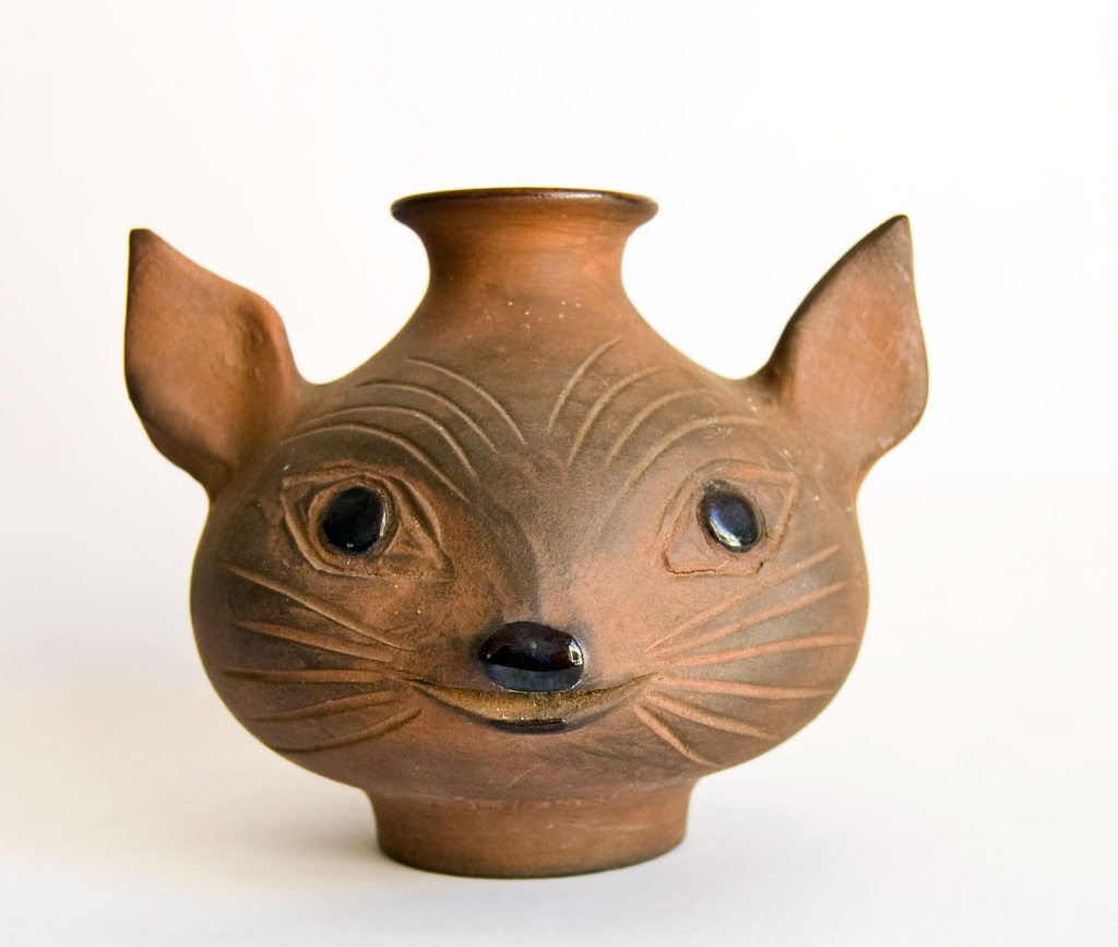 Dybdahl cat vase