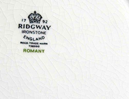 Ridgway Romany back stamp