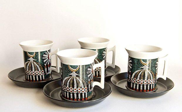 Portmeirion Magic City Coffee Cups