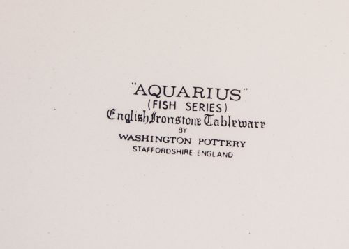 Aquarius Plate Backstamp