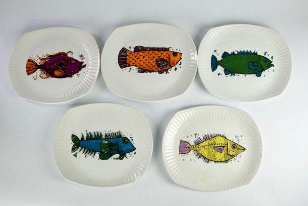 Aquarius Plates, Washington Pottery