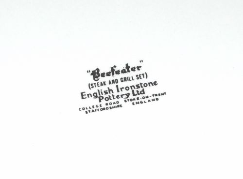 Beefeater Plate Backstamp