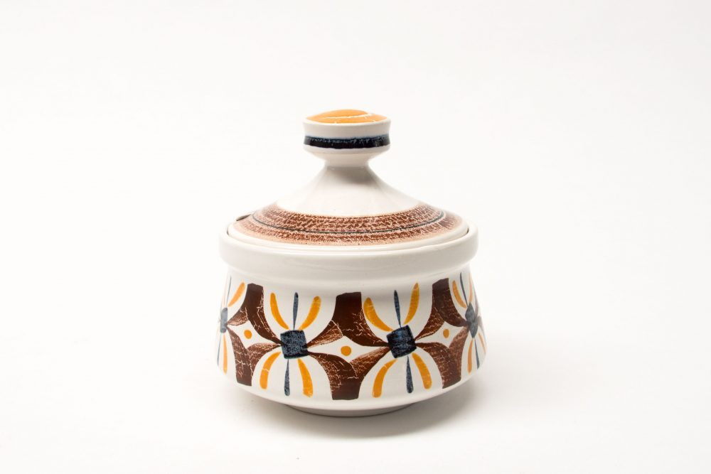 Poole Bokhara Preserve Jar Shape 655 OBA sepia/orange/black