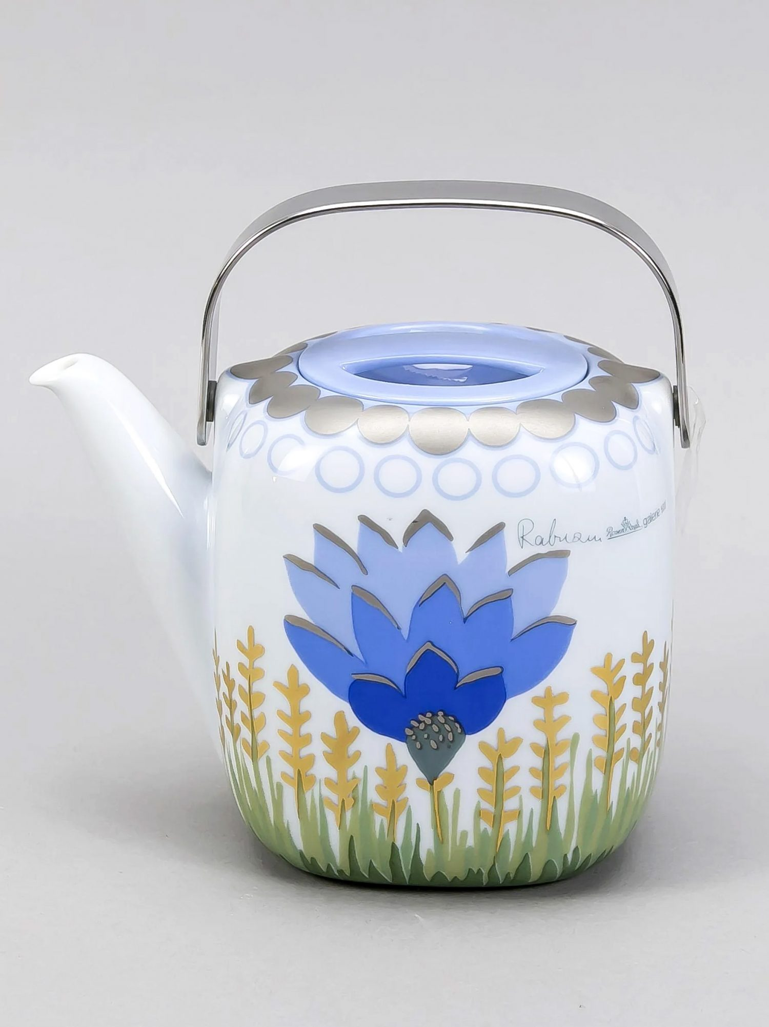 Rosenthal Teapot, Suomi Series, Decor by Ivan Rabuzin